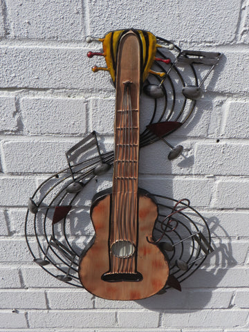 Metal Guitar Sculpture
