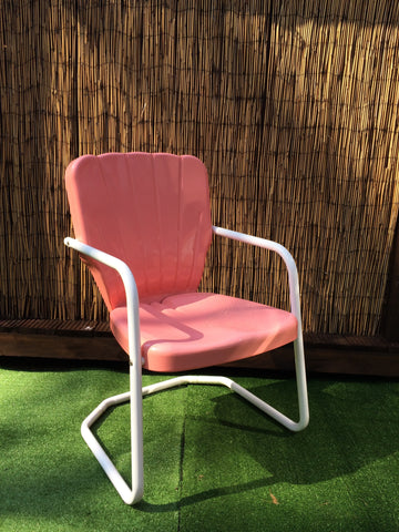 1956 Thunderbird Lawn Chair Coral