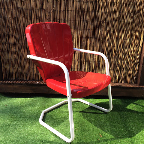 1956 Thunderbird Lawn Chair Red