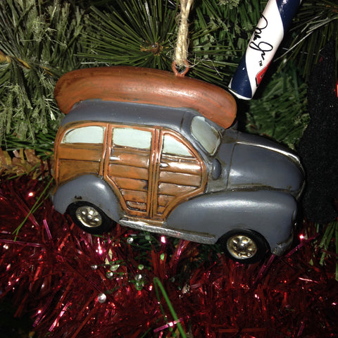 Woody Wagon with Canoe Christmas Tree Decoration