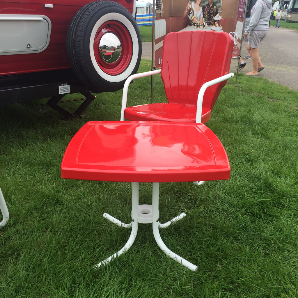 Patio Square Side Table 1950's