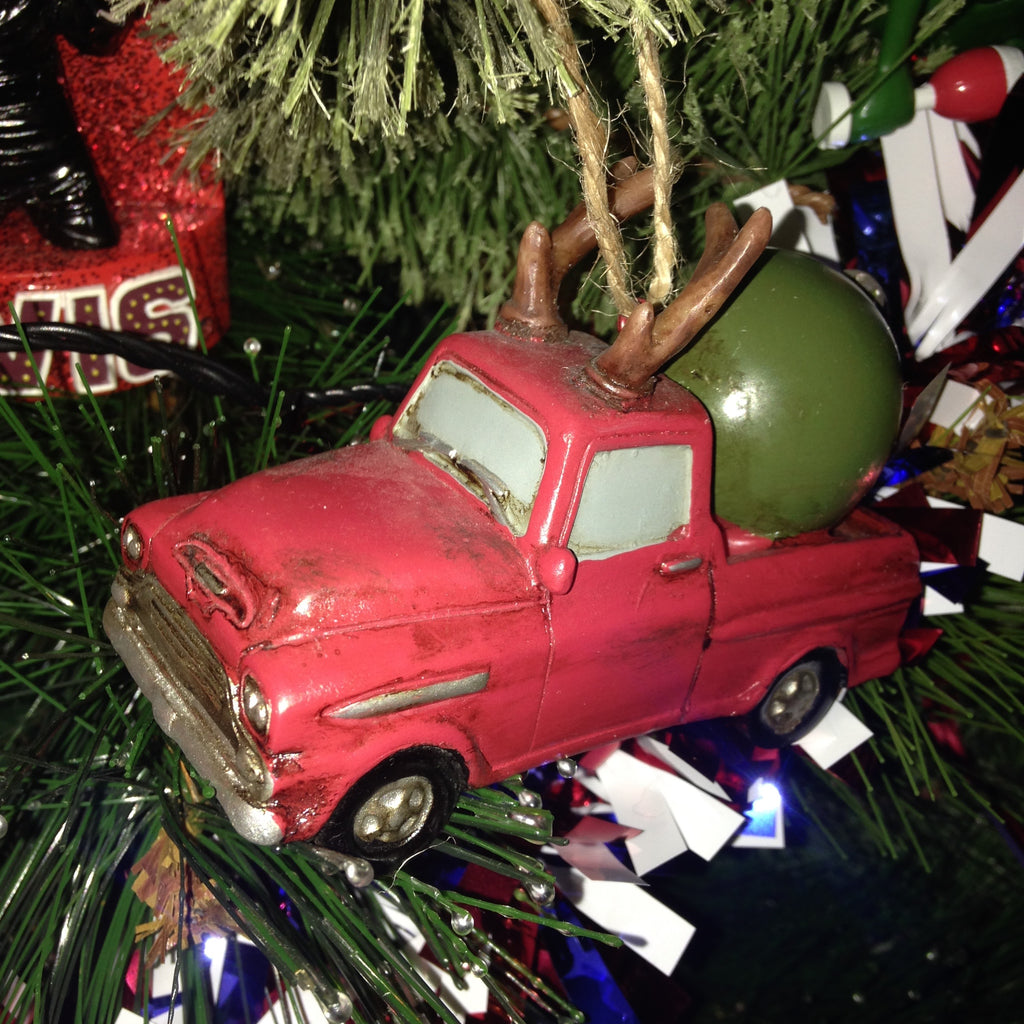 Apache 10 Fleetside Pick Up Truck Christmas Decoration Bauble