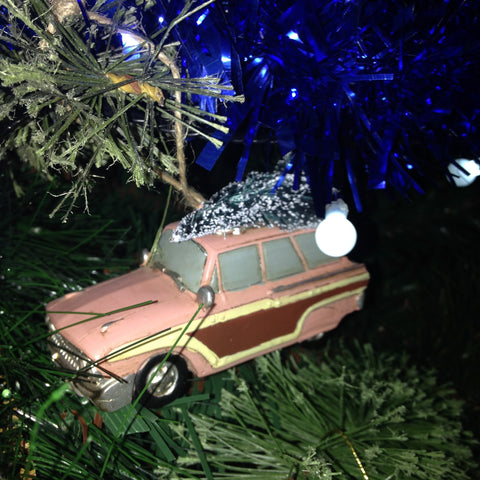 Station Wagon Christmas Tree Decoration
