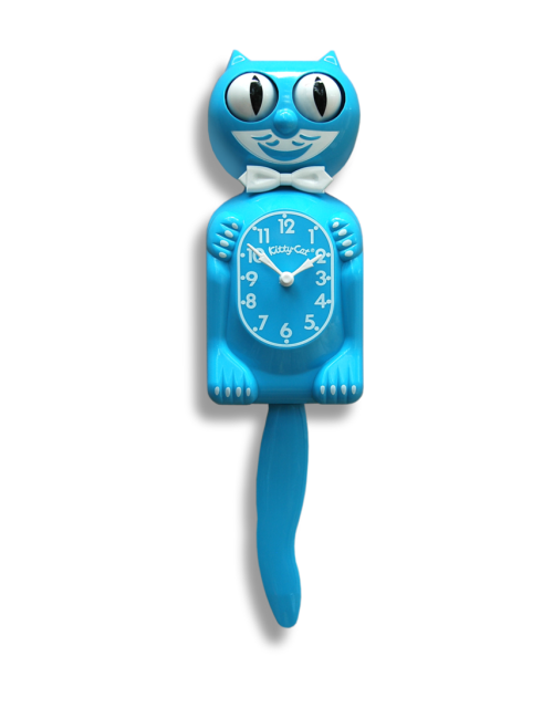 Kit-Ca Clock Kitty-Cat Scuba Blue