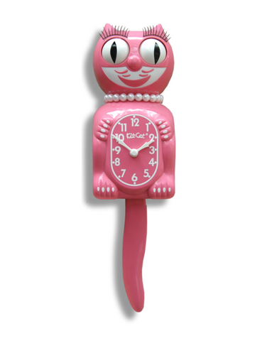 Kit-Cat Clock (Full Size Lady) Strawberry Ice