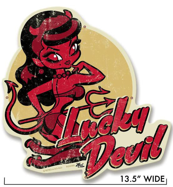 LUCKY DEVIL METAL SIGN