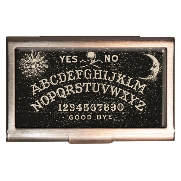 ouija style card case weegie card case card holder business card case black card case halloween card case