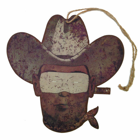 Masked Cowboy Sign