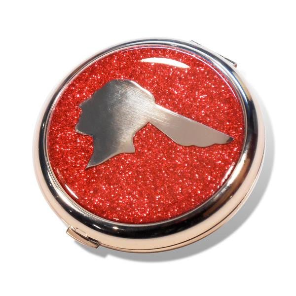 Compact Mirror Pontiac - (Detroit Chrome) Red Flake