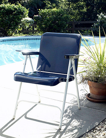 Belvidere Folding Chairs Blue & White