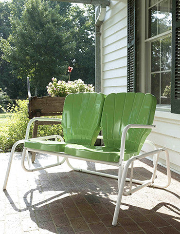20530d02d9 Thunderbird Double Glider Green  American Garden Swing Chairs – swingOramic