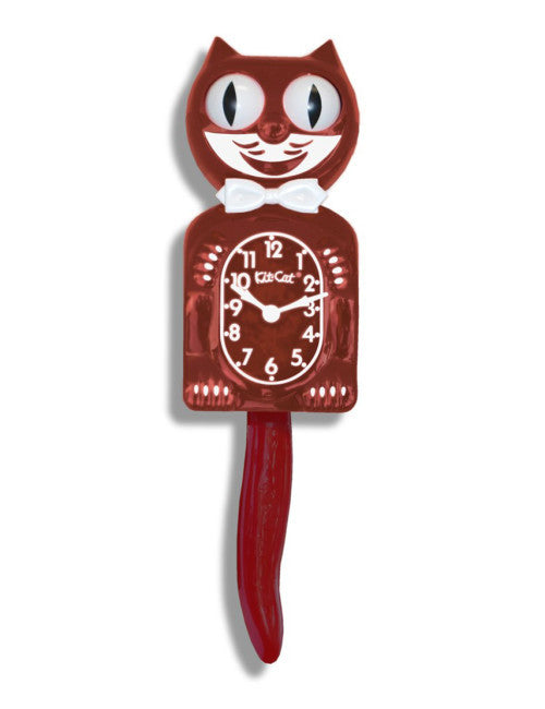 Kit-Cat Clock Burgundy