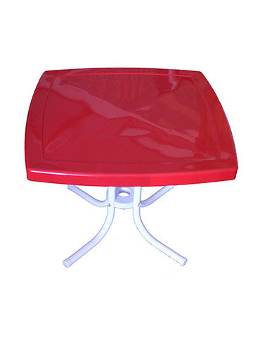 Square Side Table Red