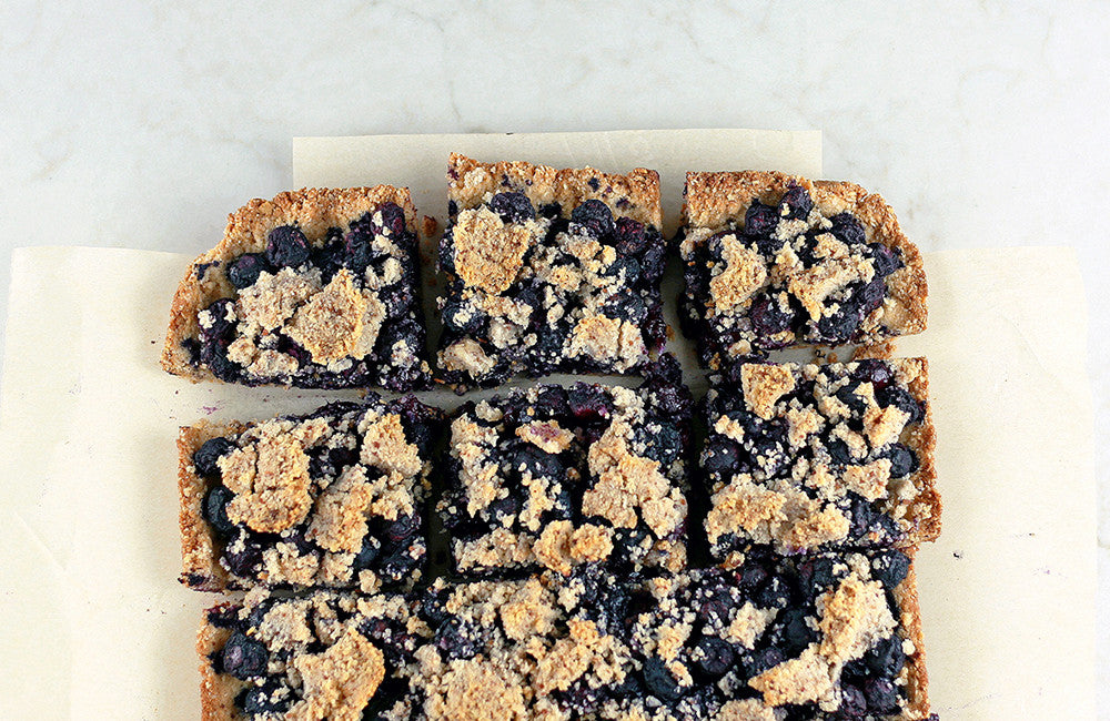 GRAIN FREE BLUEBERRY CRUMBLE BARS