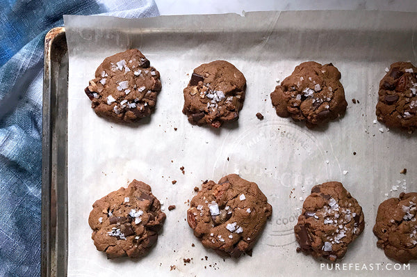 SALTED CHOCOLATE CHUNK + PECAN COOKIES (PALEO), WITH CASSAVA FLOUR