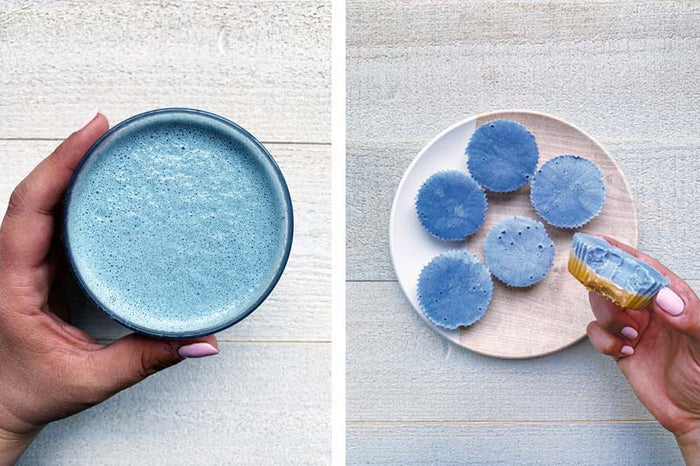 Blue Matcha Recipes - Lattes and Fat Bombs