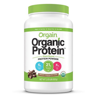 Buy Orgain Organic Plant Based Protein Powder, Creamy Chocolate Fudge at Pure Feast