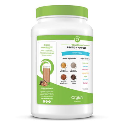 Orgain Organic Plant Based Protein Powder, Creamy Chocolate Fudge