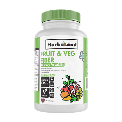 Buy Herbaland Gummies for Adults: Organic Fruit, Veg & Fiber from Pure Feast