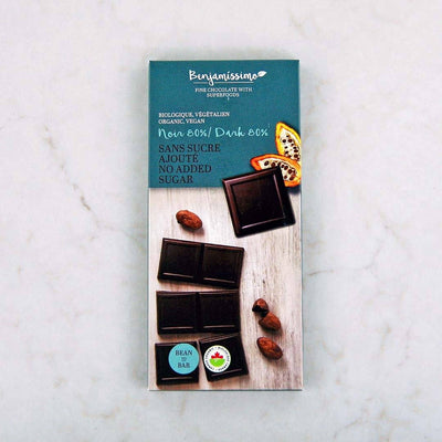 Benjamissimo Organic No Sugar Added 80% Dark Chocolate Bar at Pure Feast