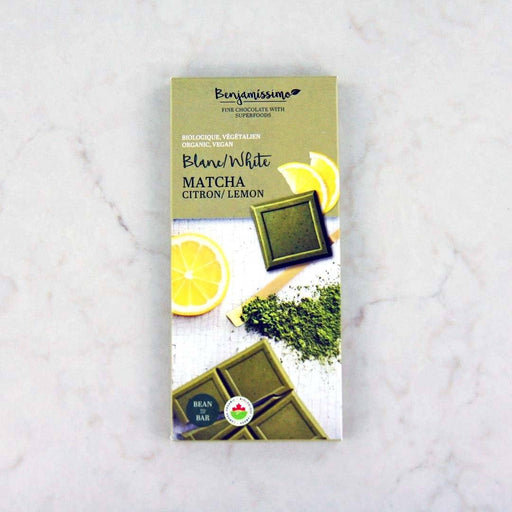 Benjamissimo Organic Matcha Lemon White Chocolate Bar