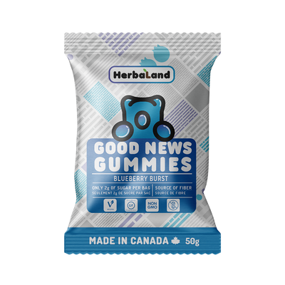 Buy Herbaland Good News Gummies Blueberry Burst Clean Candy from Pure Feast