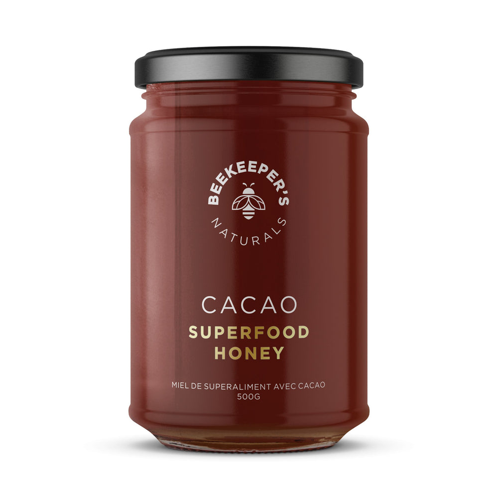 Buy Beekeepers Naturals Superfood Honey with Cacao at Pure Feast