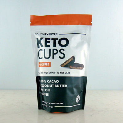 Eating Evolved Keto Cups Coffee in Canada at Pure Feast