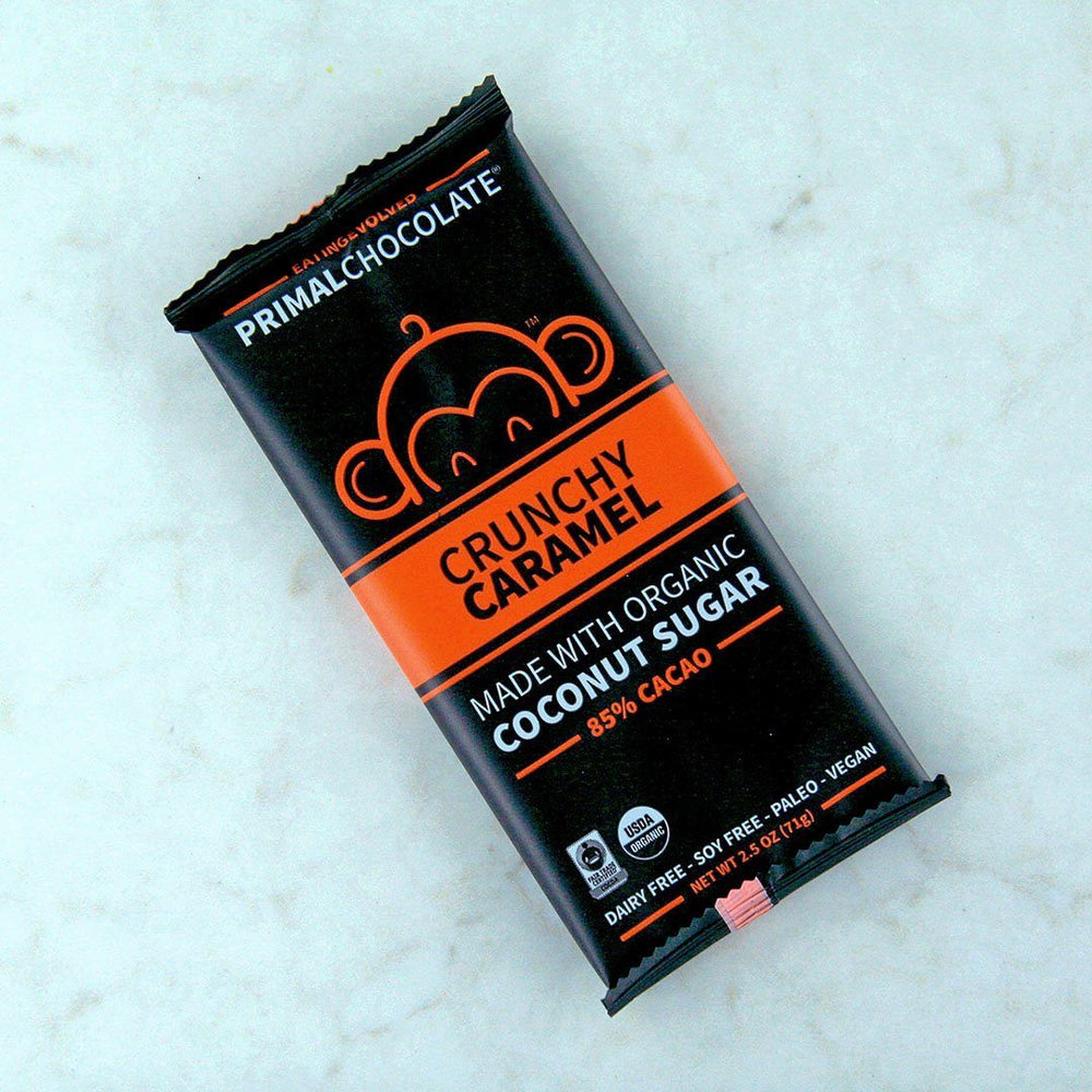 Eating Evolved Primal Chocolate Bar - Crunchy Caramel online in Canada at Pure Feast