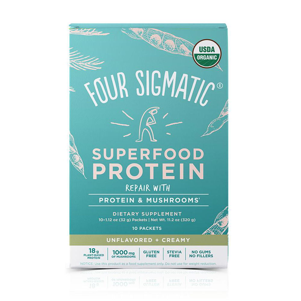 Four Sigmatic Superfood Protein with Mushrooms + Adaptogens, Single Serving at Pure Feast