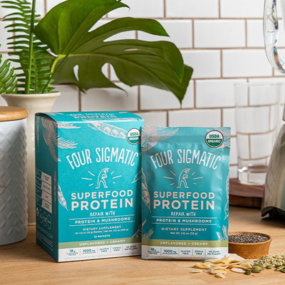 Four Sigmatic Superfood Protein with Mushrooms + Adaptogens, Single Serving