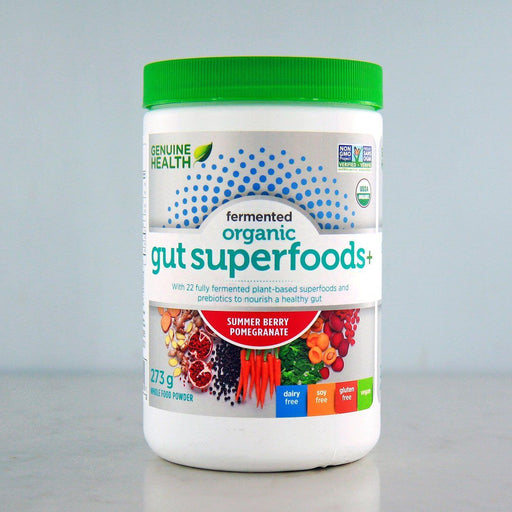 Pure Feast - Genuine Health Fermented Organic Gut Superfoods+, Summer Berry-Pomegranate, 273g