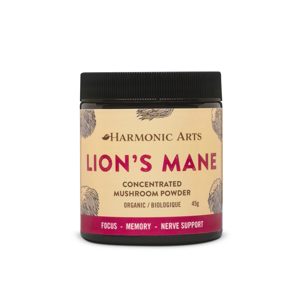 Buy Harmonic Arts Lion's Mane Concentrated Mushroom Powder at Pure Feast