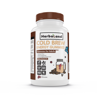 Buy Herbaland Cold Brew Energy Gummies from Pure Feast
