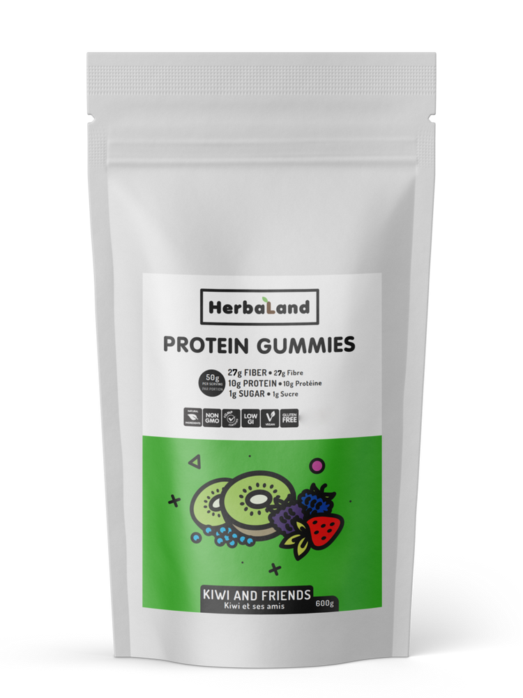 Buy Herbaland Protein Gummies Kiwi & Friends, 600g Bulk from Pure Feast