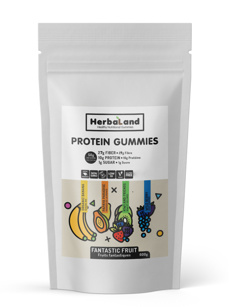 Buy Herbaland Protein Gummies Fantastic Fruit, 600g Bulk from Pure Feast