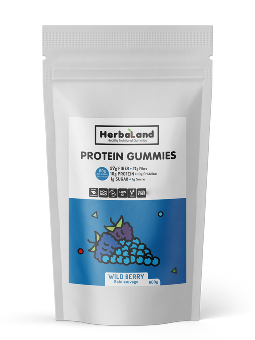 Buy Herbaland Protein Gummies Wild Berry, 600g Bulk from Pure Feast