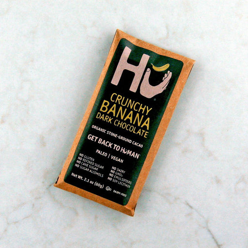 Buy Hu Kitchen's Crunchy Banana Dark Chocolate Bar in Canada at Pure Feast