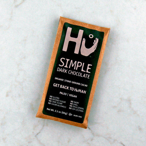 Hu Kitchen's Simple Dark Chocolate Bar available in Canada at Pure Feast