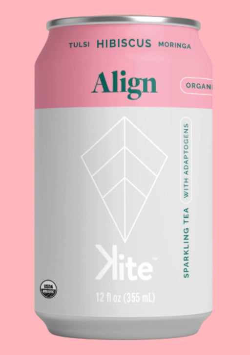 Buy Kite ALIGN Tulsi Hibiscus Moringa Sparkling Tea at Pure Feast