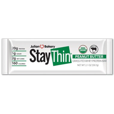 Buy Julian Bakery Stay Thin Grass-Fed Whey Protein Bar Peanut Butter at Pure Feast