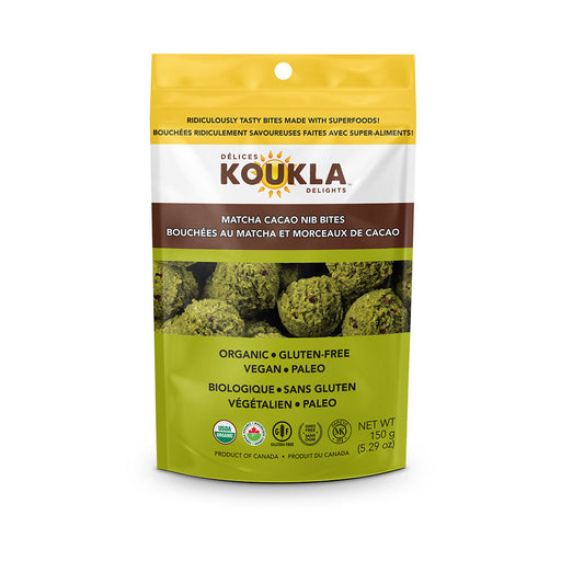 Buy Koukla Delights Matcha Cacao Nib Bites at Pure Feast
