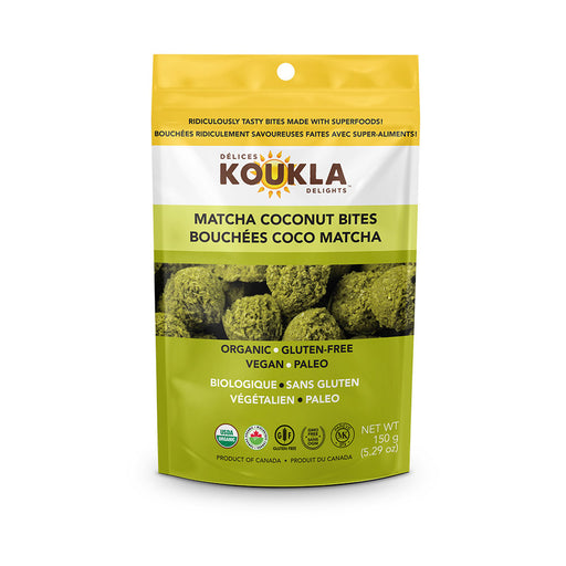 Buy Koukla Delights Matcha Coconut Bites at Pure Feast
