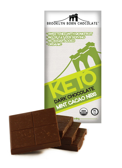 Buy Brooklyn Born Chocolate Keto Mint Cacao Nibs at Pure Feast