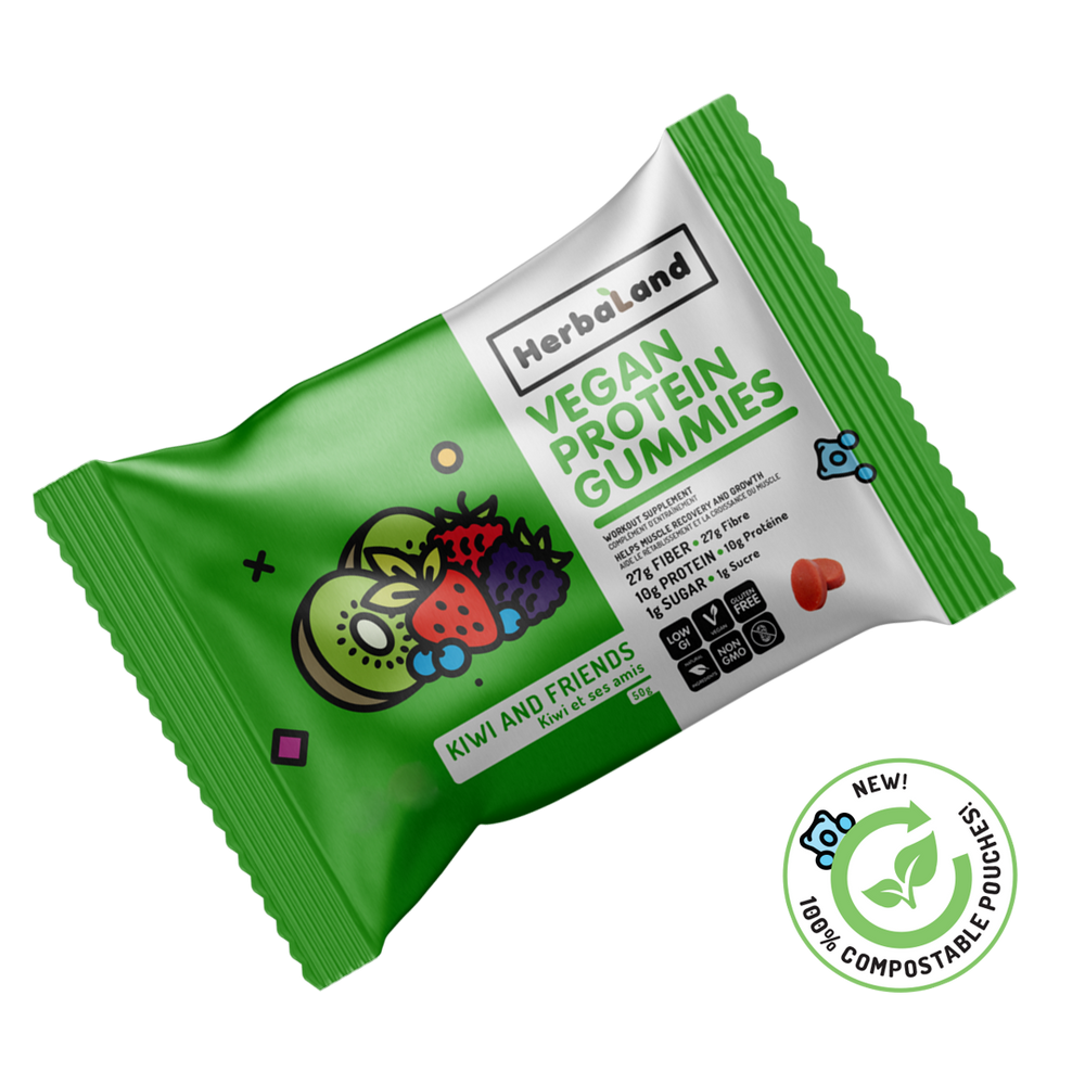 Buy Herbaland Protein Gummies Kiwi & Friends from Pure Feast