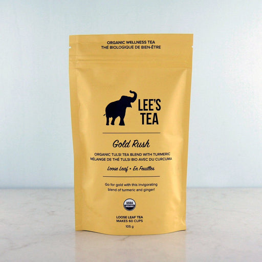 Lee's Tea Gold Rush Turmeric Tulsi Holy Basil Tea at Pure Feast