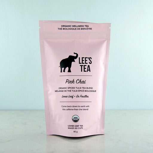 Lee's Tea Gold Pink Chai Tulsi Holy Basil Tea at Pure Feast