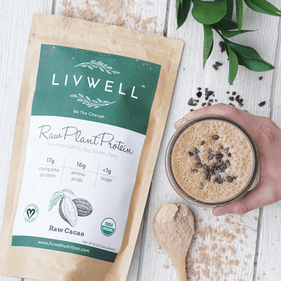 LivWell Raw Plant Protein, Raw Cacao Blend