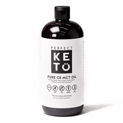 Perfect Keto 100% Pure C8 Liquid MCT Oil