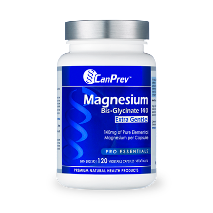Buy CanPrev Magnesium Bis-Glycinate 140 at Pure Feast  Extra Gentle CanPrev Magnesium Capsules. 140mg. Bis-Glycinate.  CanPrev Magnesium Online Canada